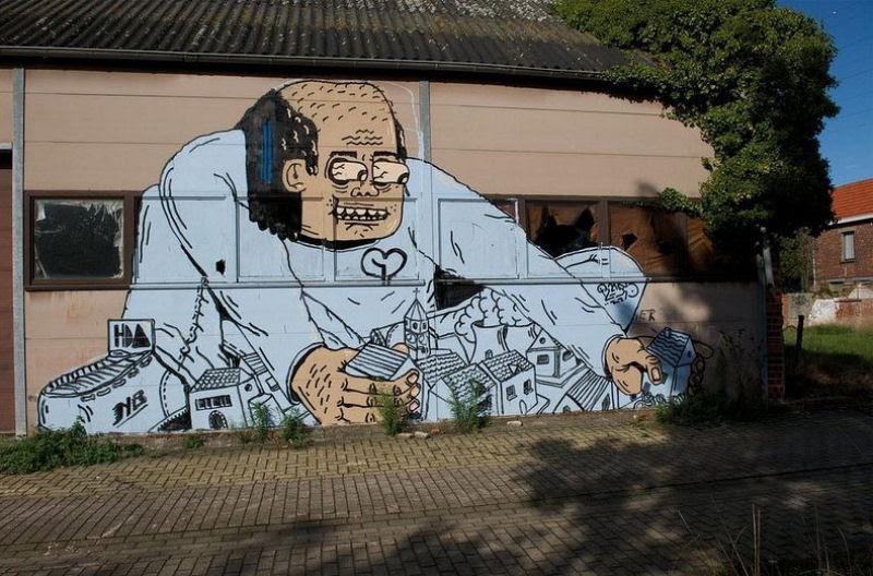 A vila condenada de Doel e sua arte de rua surpreendente 19