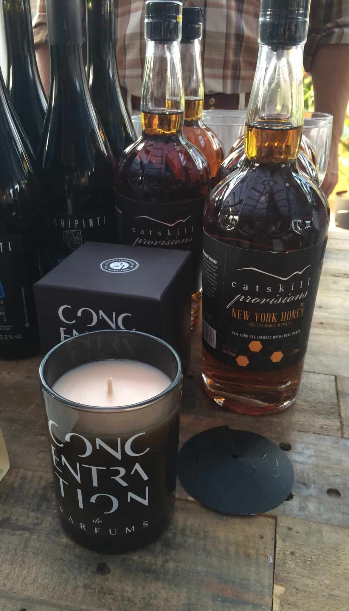 Concentration de Parfums Allegedly Rose Candle that was paired with Catskill Provisions Honey Whiskey
