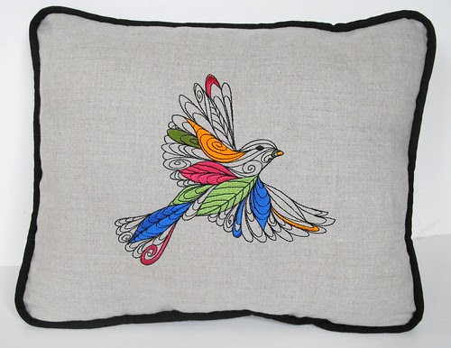 Lofty Nature Embroidered Pillow 2