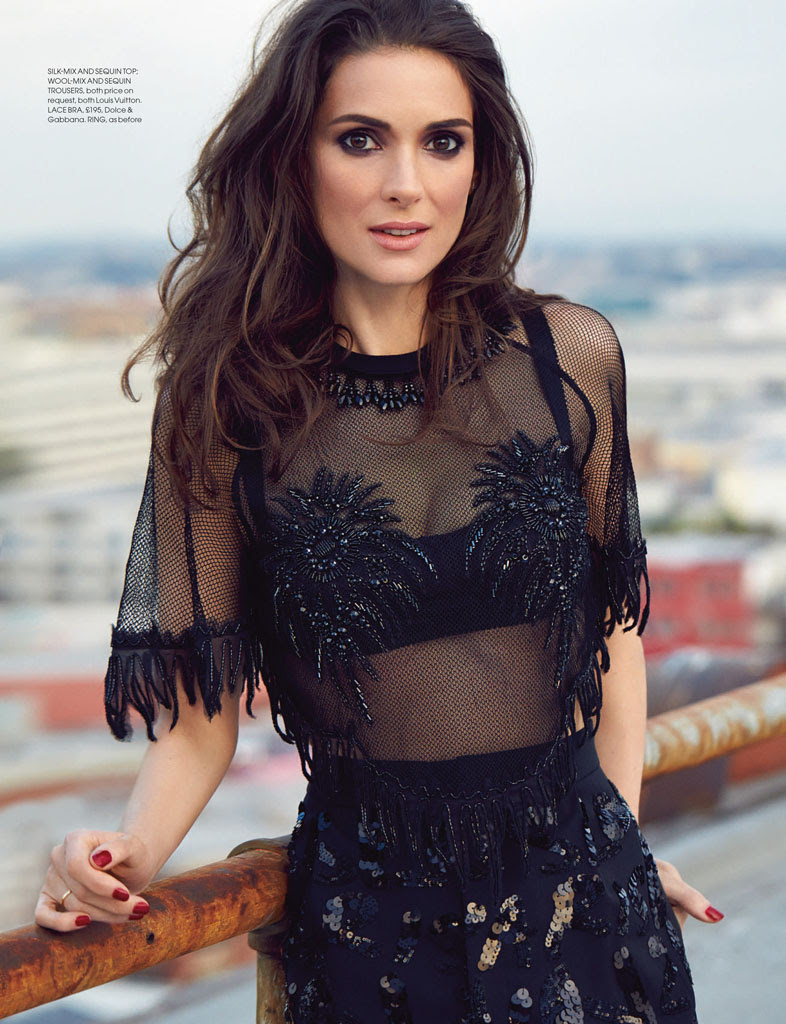 winona ryder red shoot3 Winona Ryder Charms for Red Magazine Feature by Max Abadian