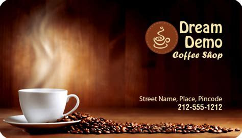 2x3.5 Coffee Shop Business Card Round Corner Full Color
