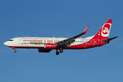 Airberlin (airberlin.com) Boeing 737-86J WL D-ABMS (msn 37782) (Flying home for Christmas - Santa Claus Tour 2013) MUC (Arnd Wolf). Image: 921807.