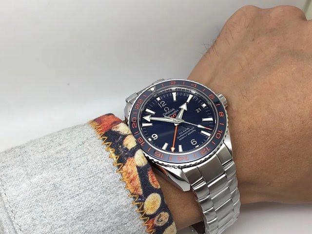 Omega GMT Blue on Wrist