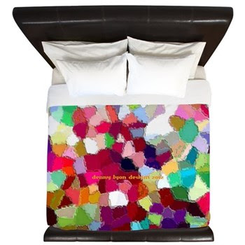 Rainbow Colors King Duvet