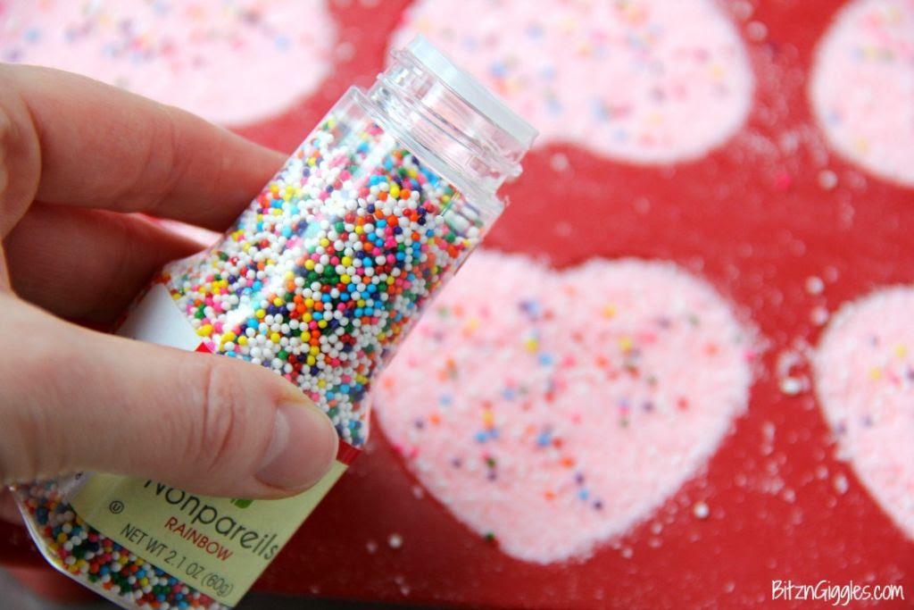 DIY Rainbow Sprinkle Bath Bombs