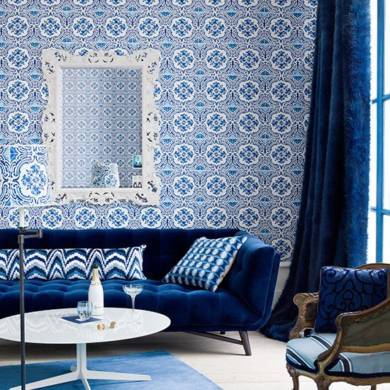 salon bleu maroc