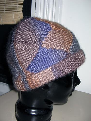 short row hat seam