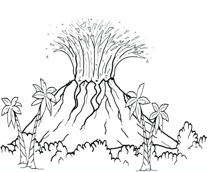 Volcano Eruption Drawing at GetDrawings | Free download