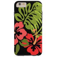Hibiscus Flowers Tough iPhone 6 Plus Case
