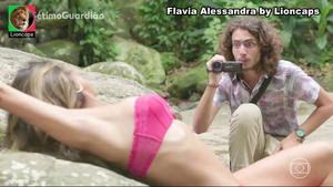 Flavia Alessandra super sensual na novela Sétimo Guardião