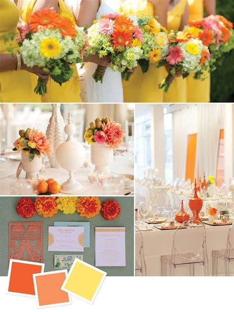 25  best ideas about Orange yellow weddings on Pinterest