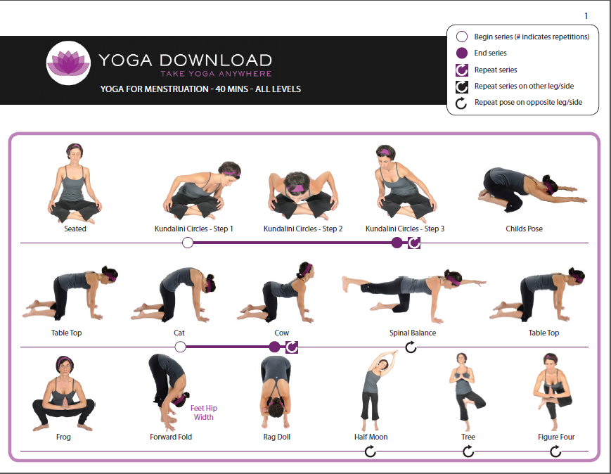 5 downloadable yoga pose sequences for all levels | A Charmed Yogi
