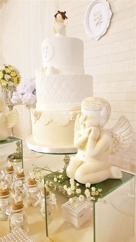 White Angel Baptism Party   Christening Party Ideas