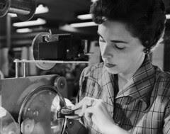 [Woman working, Hermetic Seal Transformer Company]
