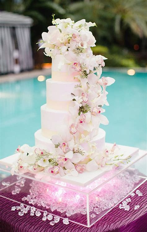 25  best ideas about Orchid Wedding Cake on Pinterest