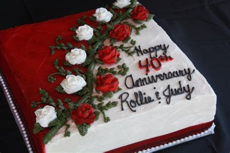 25  best ideas about 40th Anniversary Cakes on Pinterest