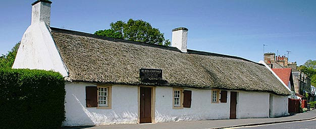 The cottage in which Robert Burns was born