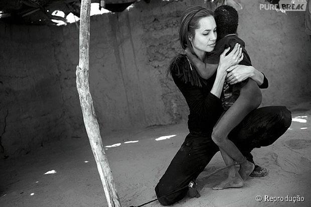 A ligação de Angelina Jolie com o continente africano já é antiga