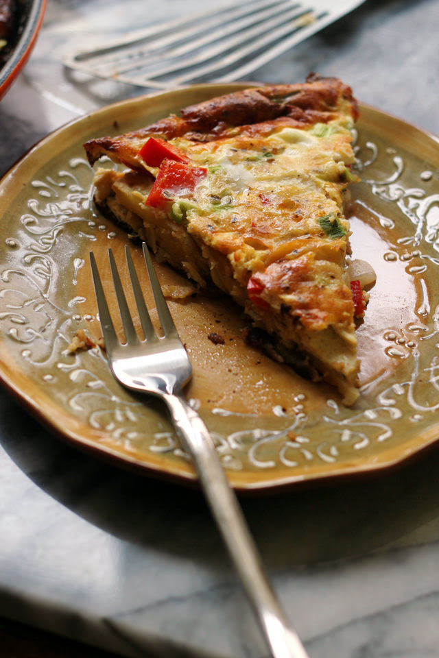 Potato and Red Pepper Tortilla | Eats Well With Others