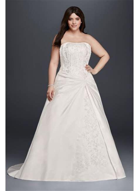 Draped A Line Plus Size Strapless Wedding Dress   David's