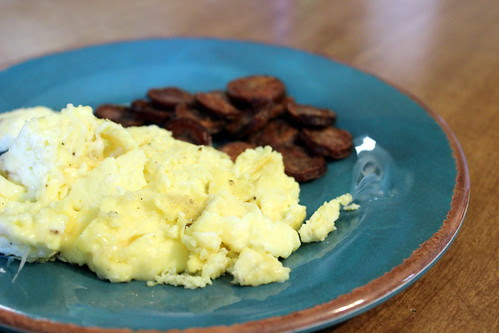 Truffle Eggs & Sausage Crispies