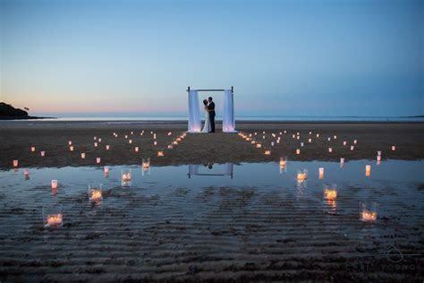 Natural Romantic Woodland Beach Wedding   Greens Beach