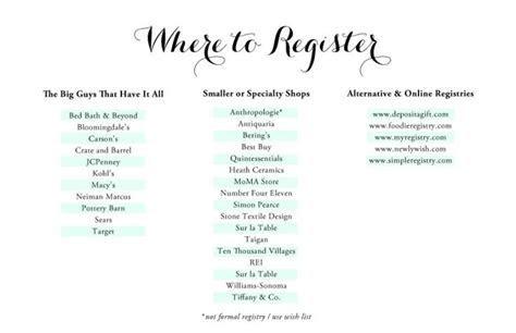 Wedding Registry Guide   wedding miscellany   Wedding