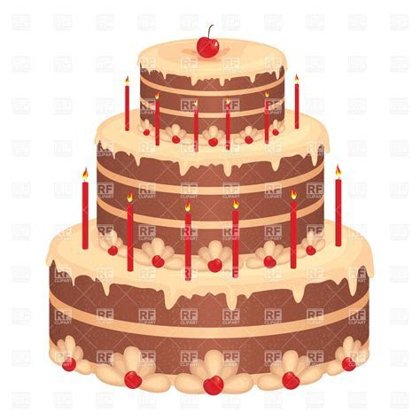 Big birthday cake Vector Image ? Vector Artwork of Food