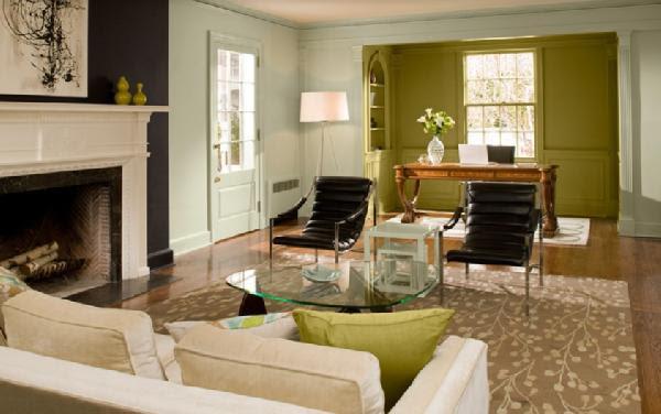 Benjamin Moore Blue Paint - Contemporary - living room - Benjamin ...