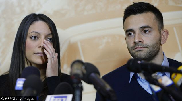 Stephanie Kercher and her brother Kyle: The siblings of murdered British student Meredith Kercher today called for her convicted murderer Amanda Knox to be returned to Italy to begin serving her 28-year sentence