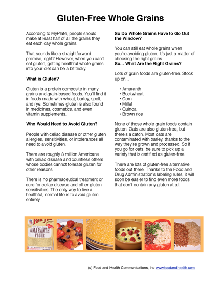 Gluten Free Poster for Celiac and Gluten Allergy 12x18 ...