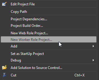 New Worker Role Project...