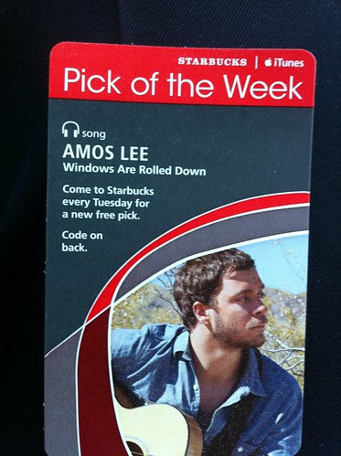 Starbucks iTunes Pick of the Week - Amos Lee - Windows Are Rolled Down