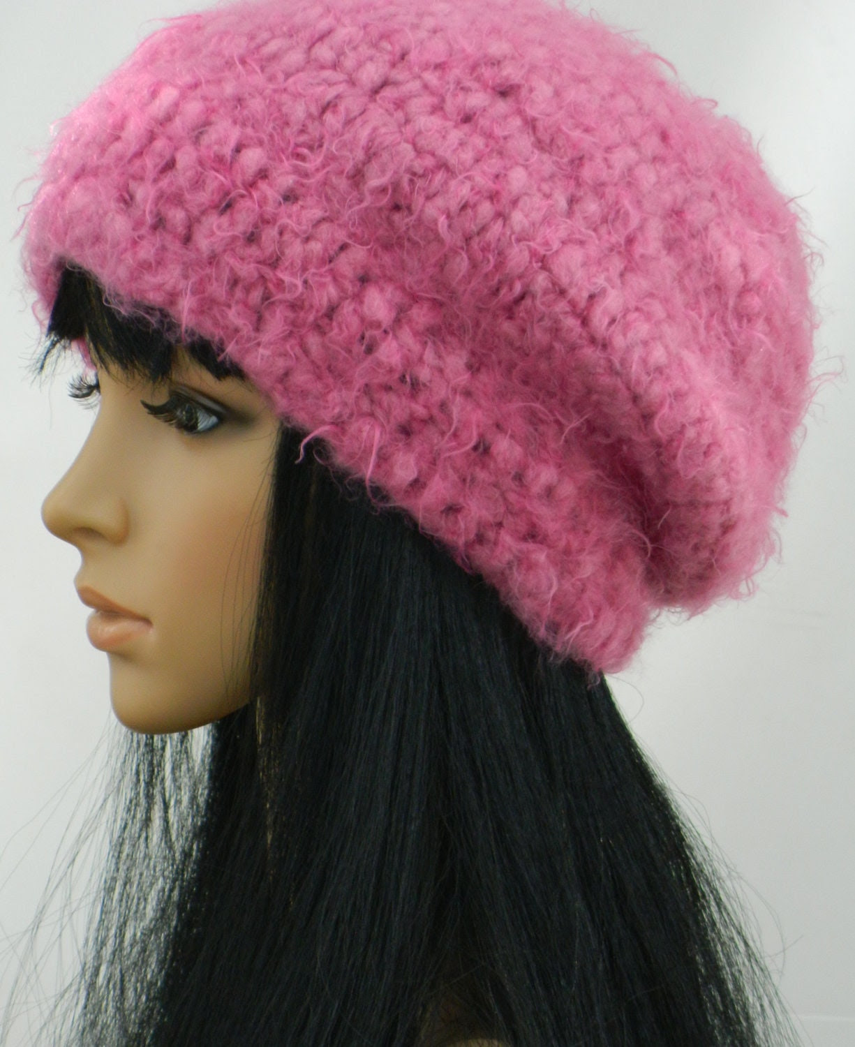 Slouchy Beanie Tams Beret Winter Beanies Earwarmers For Teens Women  In Pink