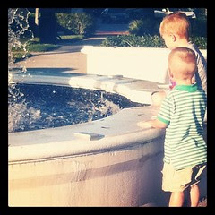 A little fun at the fountain.