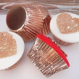 Rose Gold Cupcake Cases, Pack of 45