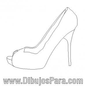 De Zapato Fiesta Dibujos Para Colorear Mujer Dibujo 6zfdw5qtxz