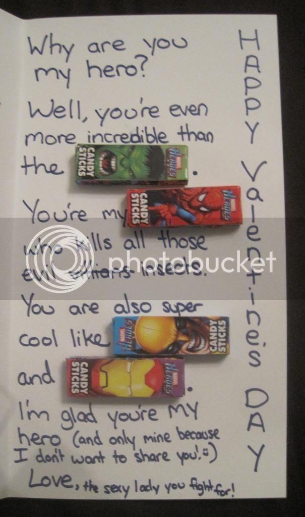 Homemade Superhero Valentines Day Card