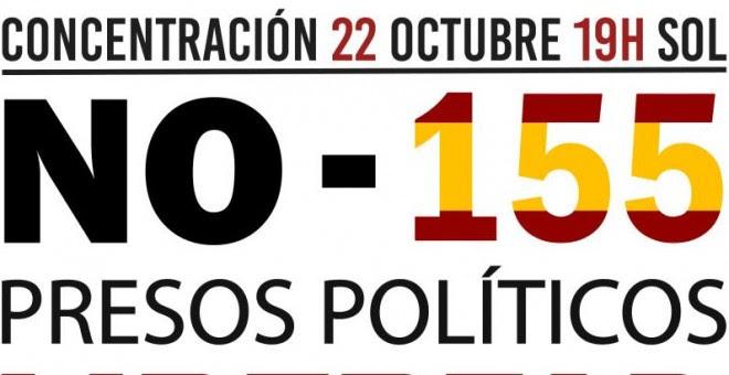 Cartel de la coordinadora 25-S de la manifestación contra la aplicación del artículo 155