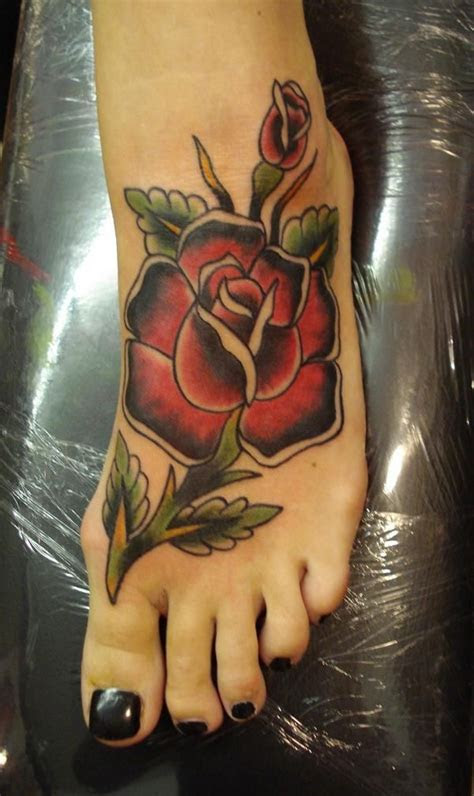 rose foot tattoo design pinterest tattoo maze