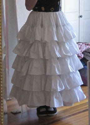 Flounced Petticoat - This might get the right silhouette for the skirt....
