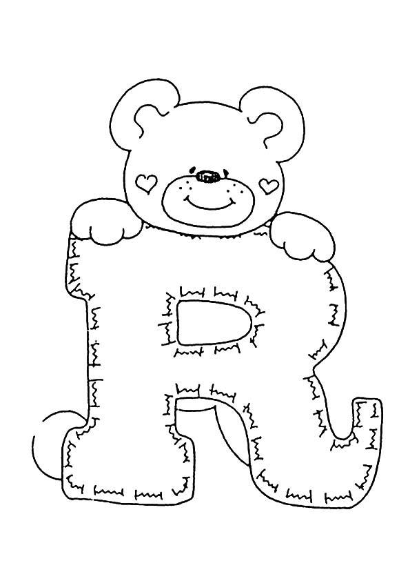 Letra R Para Colorear Dibujos Para Colorear