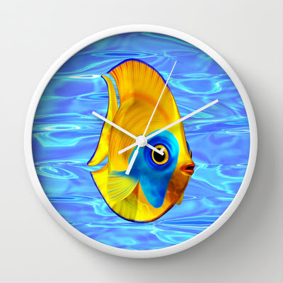 Tropical Fish on Clear Ocean Water 3D - Wall Clocks - $30.00