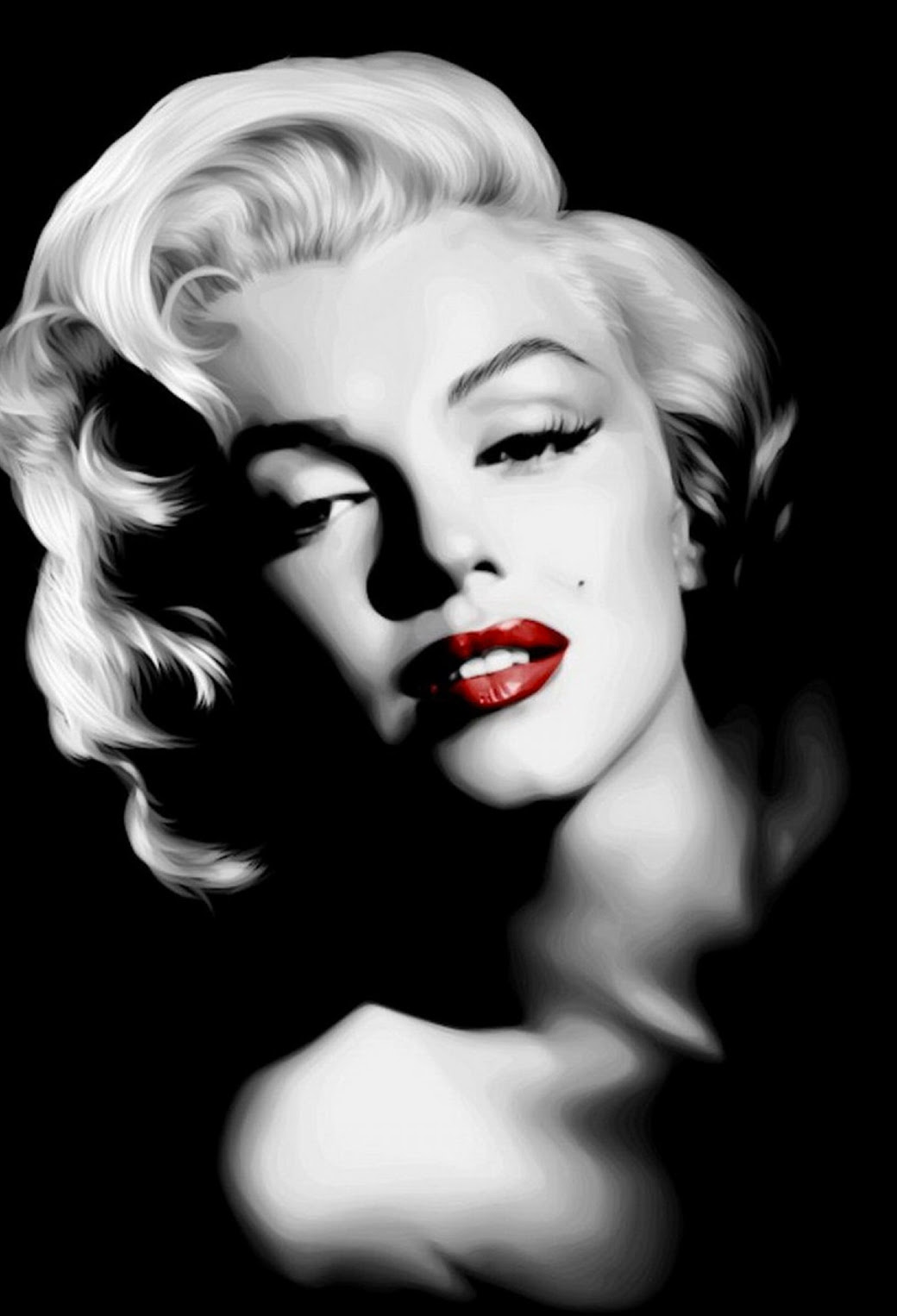 Marilyn Monroe In Dark Wallpaper For Iphone 11 Pro Max X 8 7