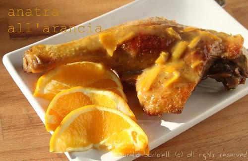 coscia d'anatra all'arancia