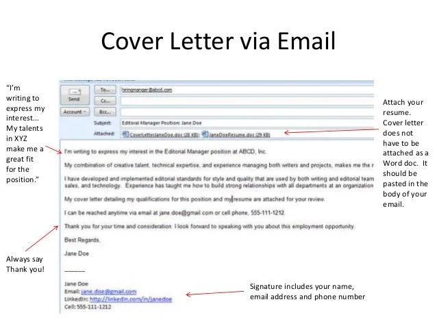 How To Email Resume And Cover Letter Sample Cover Letter