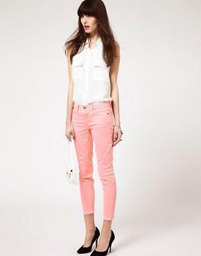 Image 1 ofCurrent/Elliott Stiletto Skinny Jeans In Solid Neon