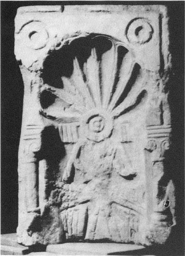 Placa-nicho visigótica hallada en la Iglesia de San Andrés y que actualmente se encuentra en el Museo de los Concilios