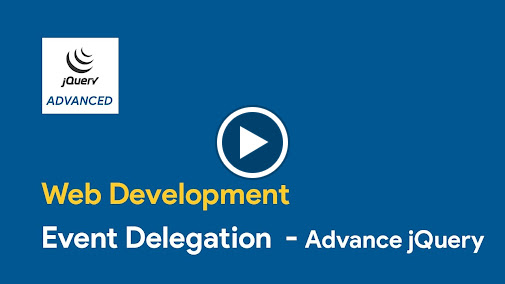 In this tutorial we wil learn about event delegation. You can buy our courses on SkillBakery.com http://skillbakery.com/course/advanced-jquery-tips--tricks-f...