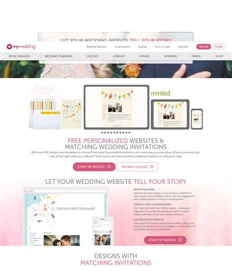 Top 10 Practical Free Wedding Website You Need to Know